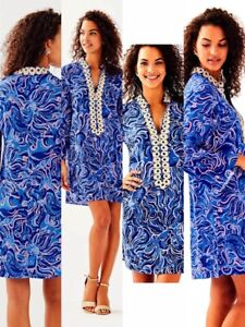 c80255419710e9 Image is loading NWT-Lilly-Pulitzer-Gracelynn-Stretch-Tunic-Dress-Coastal-