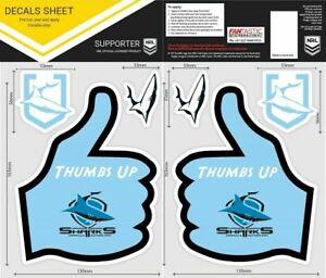 NRL Cronulla Sharks Thumbs Up Decal Sticker Car Tattoo iTag