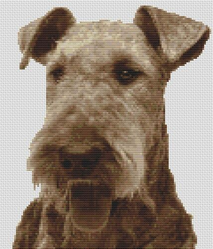 Airedale Terrier Dog Counted Cross Stitch Kit Pets Animals