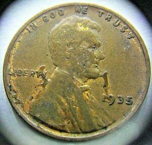 1935 Lincoln Wheatfield Cent Penny Error