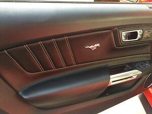 Image Is Loading Ford Mustang Interior Door Panel Pony Emblem Set