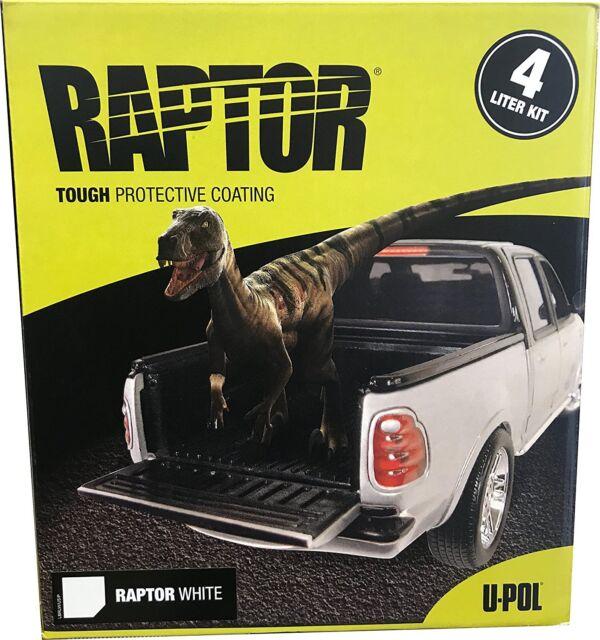 U Pol Raptor White Truck Bed Liner Kit 1 Spray Gun Ebay