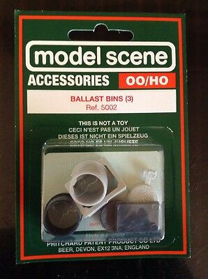 5002 Modelscene OO Gauge Ballast Bins 3 In Pack