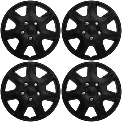 """4 Pc Set of 16/"""" Matte Black Hub Caps Rim Cover for OEM Steel Wheel Covers Cap"""