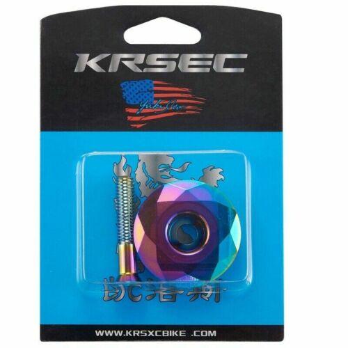 "KRSEC 1pcs Aluminum 1 1//8/"" Headset Stem Top Cap with Bolt For Road Mountain Bike"