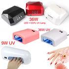 9/18/36W UV Nail Polish Dryer Lamp Gel Acrylic Curing UV LED Lamp+CCFL100-240V