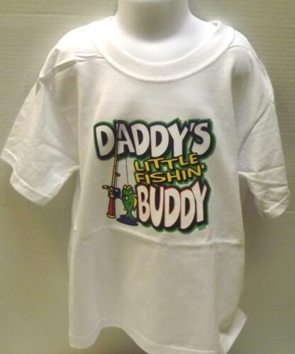 Daddy/'s Fishing Buddy Kids T-Shirt JERZEES BRAND Size 6 Months To 18-20 The Best