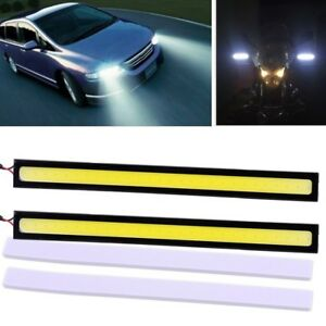 2x-Super-Bright-COB-12-V-White-Car-DEL-Lights-12-V-for-DRL-Fog-Driving-Lampe
