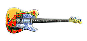 Jimmy-Page-039-s-Fender-Telecaster-039-Dragon-039-guitar-Greeting-Card-DL-size