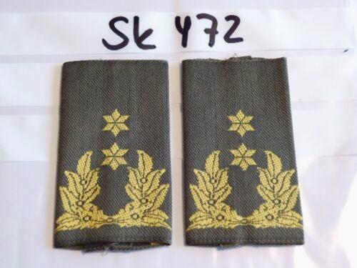 sk472 Niederlande Rangschlaufen gelb auf grün 2 Sterne general gewebt 1 Paar