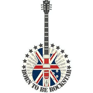 Autocollant Stickers muraux enfant guitare uk rock star | eBay