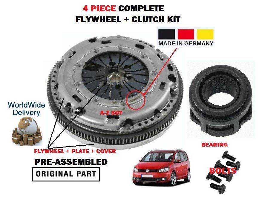 Für Volkswagen VW Touran 1.9 Tdi 2003 2003 2003   Neu Kupplung Schwungrad Platten c11149