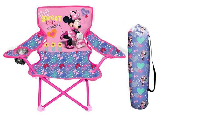 Stupendous Minnie Mouse Girls Folding Chair Portable Outdoor Indoor Pink Minnie Furniture Customarchery Wood Chair Design Ideas Customarcherynet