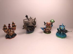 Skylanders-Spyro-s-Adventure-Figures-Lot-Of-4-Pirate-Ship-Gill-Grunt-amp-More