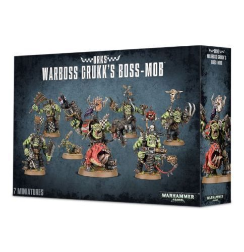 Warhammer 40k 50-32B Brand New in Box! Orks Warboss Grukk/'s Boss Mob
