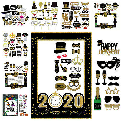 2020 Happy New Year's Eve Party Supplies Masks Photo Booth ...
