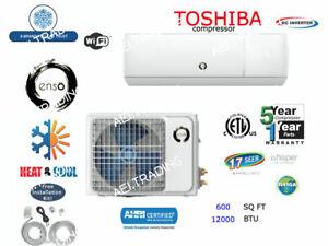 12-000-BTU-CONDIZIONATORE-ductless-pompa-di-calore-split-MINI-110V-1Ton-con-Kit-amp-WIFI
