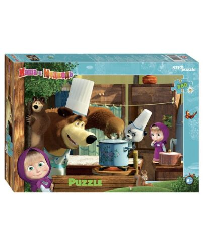 """/""""Masha and The Bear/"""" new Puzzle for children 260 Pieses FREE SHIPPING"""