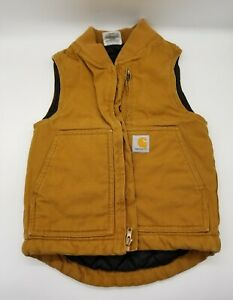Carhartt Quilted Lined Vest Men's Size XS (Would Be Great for a Child) Brown