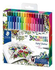 Staedtler triplus fineliner edición 36 paquetes surtidos colores secuela 334 C36 Nuevo