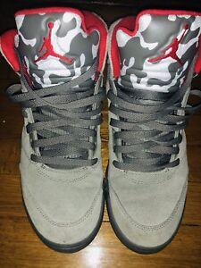 ad52d3eb1413 Men s Air Jordan 5 Retro Camo Dark Stucco University Red 136027-051 ...