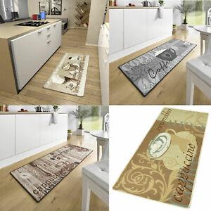 Details zu Teppichläufer Küchenläufer Läufer Kaffee Braun Teppich Küche  Premium Cafe Coffee