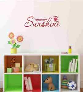 Image Is Loading You Are My Sunshine Nursery Child Baby Quote