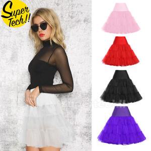 Tutu-Skirt-Lady-Vintage-Rockabilly-Petticoat-Tulle-Dress-50s-Underskirt-Christma