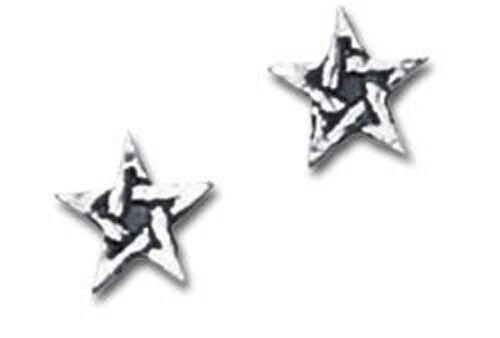 GENUINE Alchemy Gothic Earrings - Pentagram Studs | Men's Ladies Jewellery