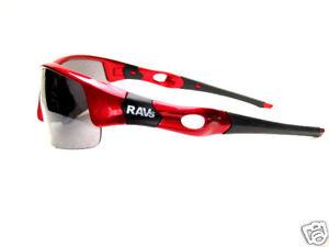 RAVS - KITE -SURF- SPORTBRILLE SONNENBRILLE Rot - Gläser Siver Mirror
