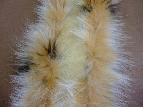 Kapuzenstreifen 55-80 cm Fell Pelz Kapuze Fellstreifen Blaufuchs-gefärbt BFG1