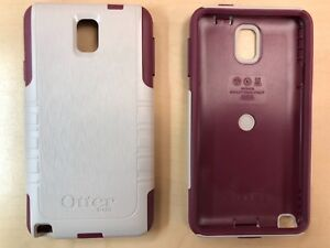 low priced 1fa8a dd875 Details about OtterBox Samsung Galaxy Note 3 Commuter Case - Merlot  Burgundy / White