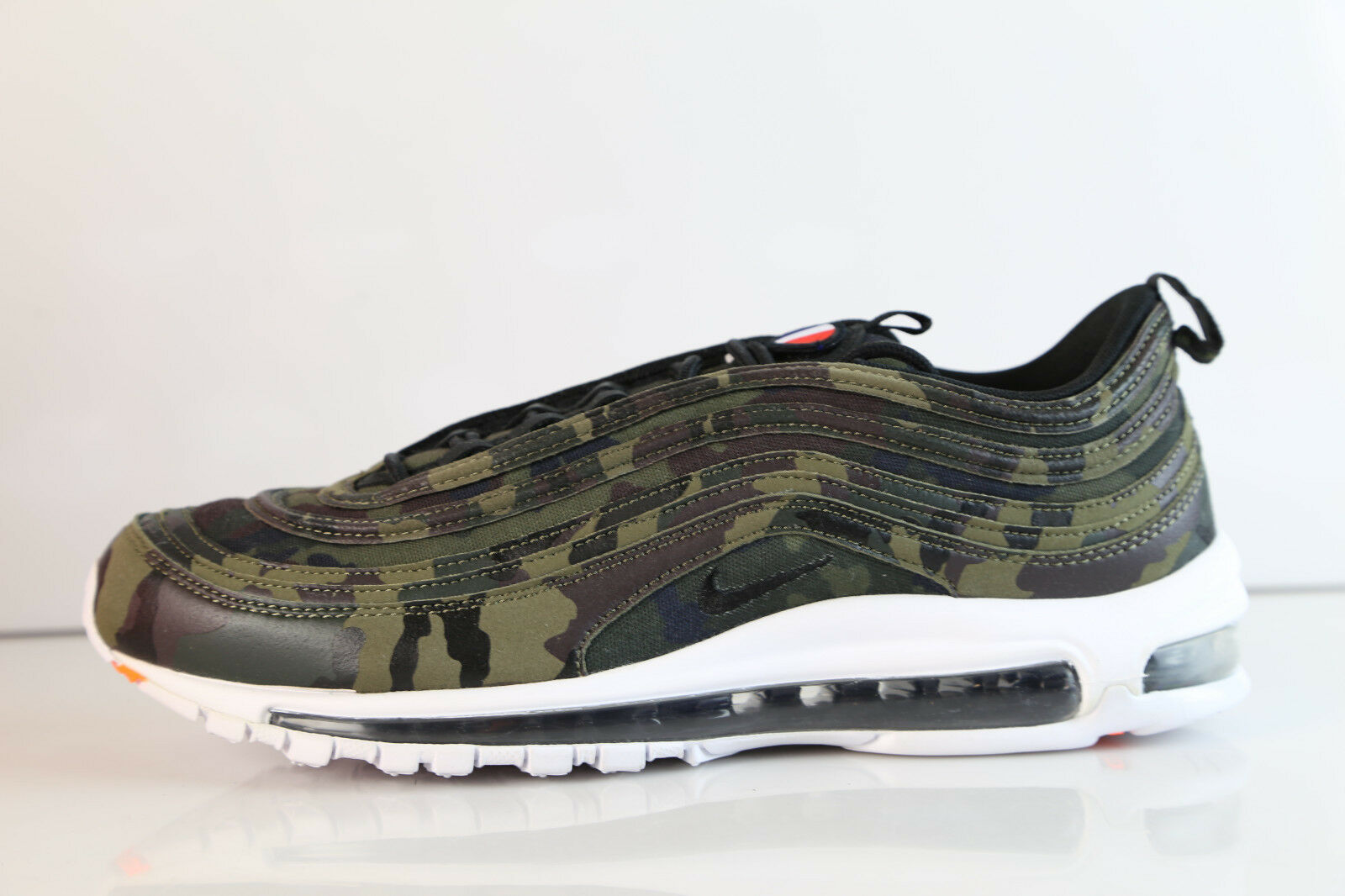 Nike Air Max 97 Premium QS Camo France Medium Olive AJ2614-200 9-13 prm 1 Wild casual shoes