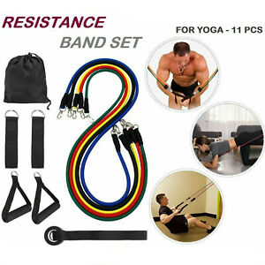 11-PCS-Yoga-Pilates-Resistance-Band-Set-Abs-Exercise-Fitness-Tube-Workout-Bands