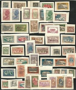 French-Colonies-Lot-of-120-diff-stamps-in-fragment-used-hinged-FC12