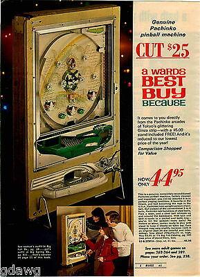 1974 PAPER AD Pinball Machine Pachinko Tokyo Ginza Strip Reconditioned Balls