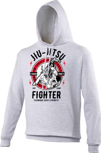Fighter Unisex /& Bambini Felpa con Cappuccio MMA Nel Jiu Jitsu confidiamo UFC Arti Marziali
