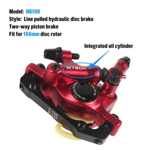 Bike Hydraulic Disc Brake Front Rear Calipers Cycling MTB Folding Bicycle Q6V0