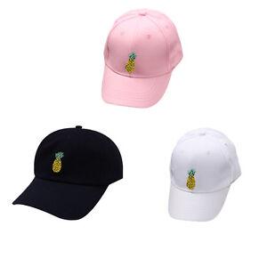 New Women Unisex Fruit Pineapple Dad Hat Baseball Cap ... 00a4f8c1d18