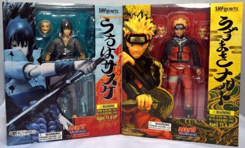 S.H.Figuarts Uzumaki Naruto and Uchiha Sasuke Combo Tamashii Web PVC Figure Toys