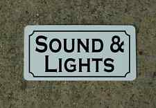SOUND & LIGHTS Metal Sign 4 Community Play House Theater Drama Class