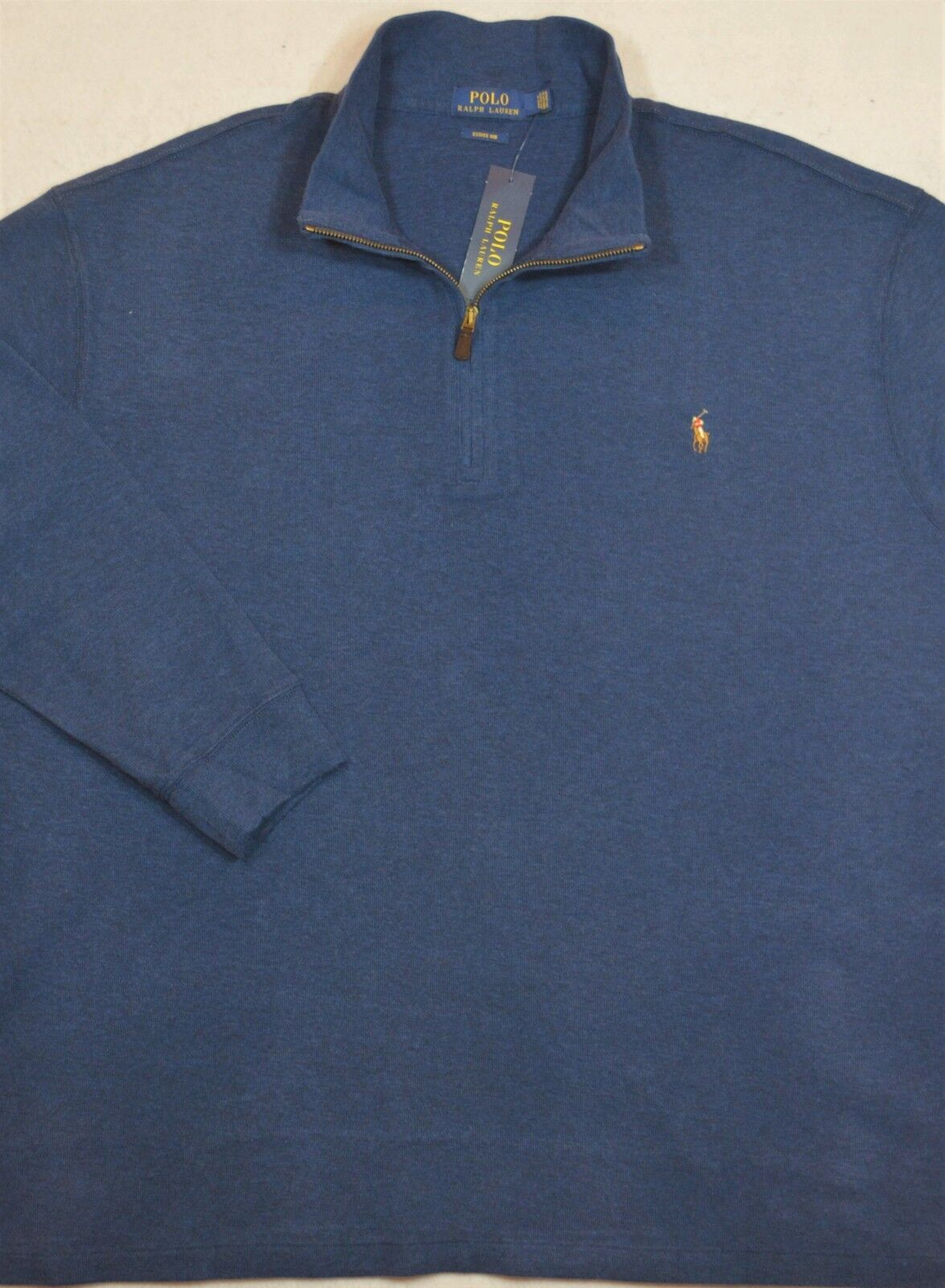 Polo Ralph Lauren Estate Rib Sweater Pullover Blau Half-Zip 3XB 3XLT NWT