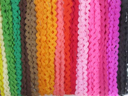 80 METER ZACKENLITZE 20 Farben je 4 meter gemischt   5mm  KOSTENLOS VERSAND!!