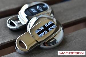 Chrome-key-case-for-2014-on-MINI-COOPER-F54-F55-F56-F57-F60-in-Black-Jack-Style