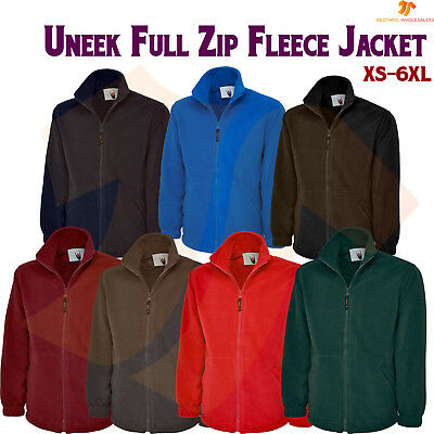 Mens /& Womens PREMIUM Full Zip Micro Fleece Jacket Zip Up Top Casual Jacket lot