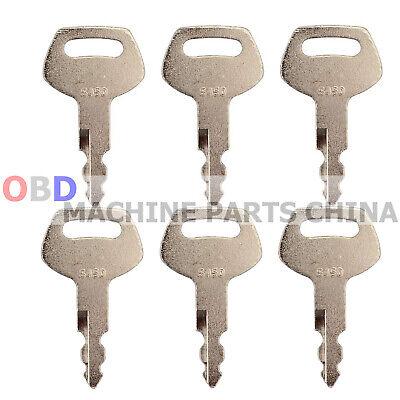 Ignition Key KHR20070 150979A1 5PCS Fits For Case Excavator CX210N CX225SR CX235C SR CX240 CX240B CX240BLR CX240LR CX250C CX250D LC CX250D LC LR CX290 CX290B CX300C CX300D LC CX330 CX350B