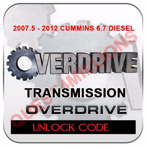 H/&S OVERDRIVE Transmission unlock code for Dodge 6.7 Diesel 7.5-12