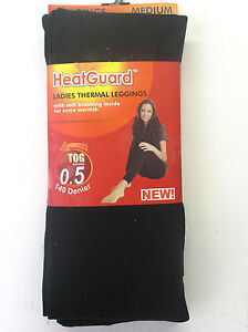 LADIES-HEATGUARD-WINTER-THICK-BLACK-THERMAL-LEGGINGS-0-5-TOG-140-DENIER-SK134