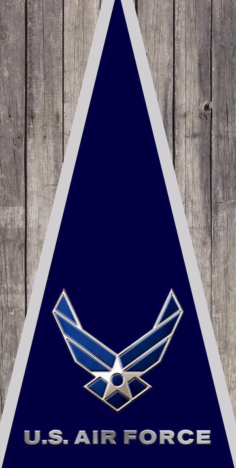 Airforce Wood Cornhole Board Bggo Bag Toss Printed 3M Vinyl Wrap Set