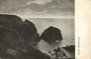 1913-VINTAGE-CLIFFS-at-BEDRUTHAN-CORNWALL-POSTCARD-MESSAGE-re-BILL-to-be-PAID